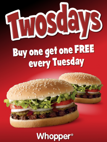Hungry jacks tuesday deals