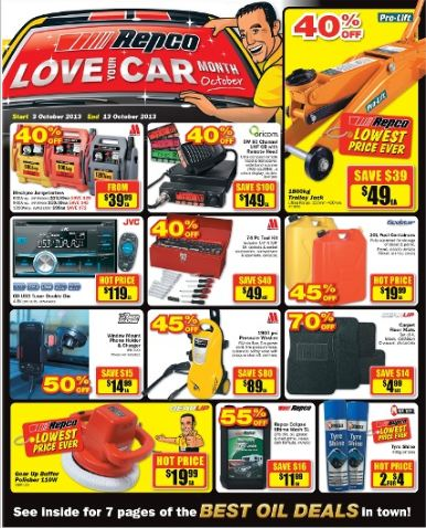 repco latest catalogue love your car month topbargains. Black Bedroom Furniture Sets. Home Design Ideas
