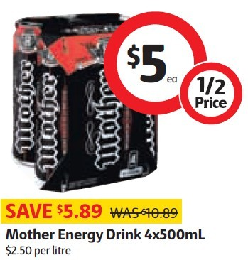 Mother Energy Drink Coles