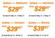 Tiger $29.95 fares (Today only)