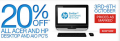 20% off ALL Acer & HP Desktop and AIO PC's @ The Good Guys!