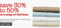 30-50% off on Bed Linens @ David Jones!