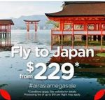 AirAsia - Fly to Japan from $229! Travel from 1 Sept 2015 - 31 May 2016