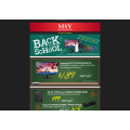 Save up to 54%!! MSY Back to school sale!