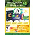 Woolworths  - Half Price Food and Grocery Specials - Starts Wed, 11th Jan