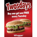 Hungry Jacks Two for Tuesday TWOSDAYS Offer