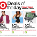Target - Deals of the Day! Today, 27/3/2013 only!