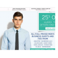 25% off ALL full price Mens Business Shirts & Ties @ David Jones!