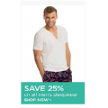 25% off on ALL Men's Sleepwear @ David Jones