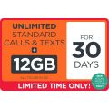 Kogan - $1 for 12GB + Unlimited Standard National Calls/Text for 30 Days (New Customers Only)