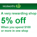 5% off this week @Woolworths for Everyday Rewards card members