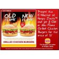 2 Hungry Jacks Burgers for the Price of One!
