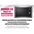 Bonus LG Built-In Microwave with LG Oven, Cooktop and Rangehood Purchase!