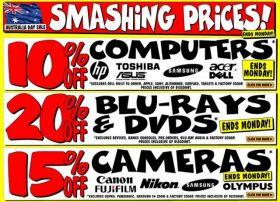 JB HiFi Smashing Prices Australia Day Sale